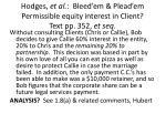 hodges et al bleed em plead em permissible equity interest in client text pp 352 et seq