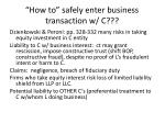 how to safely enter business transaction w c