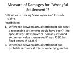 measure of damages for wrongful settlement