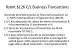 rstmt 126 c l business transactions