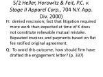 s 2 heller horowitz feit p c v stage ii apparel corp 704 n y app div 2000