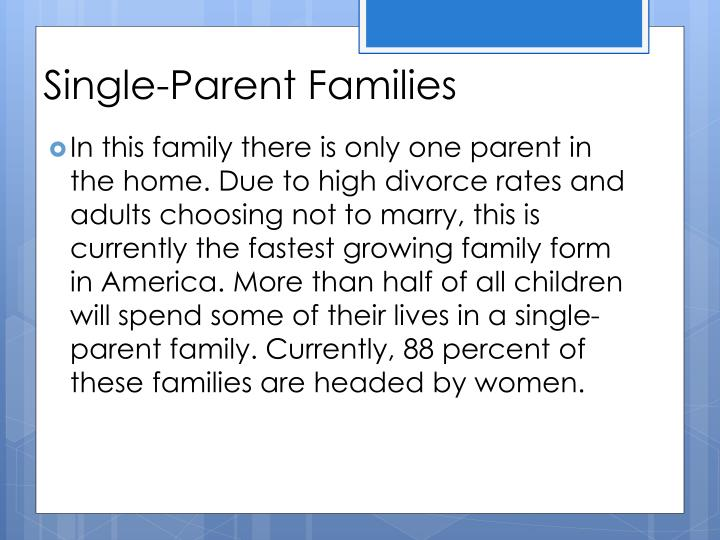 Single-Parent Families