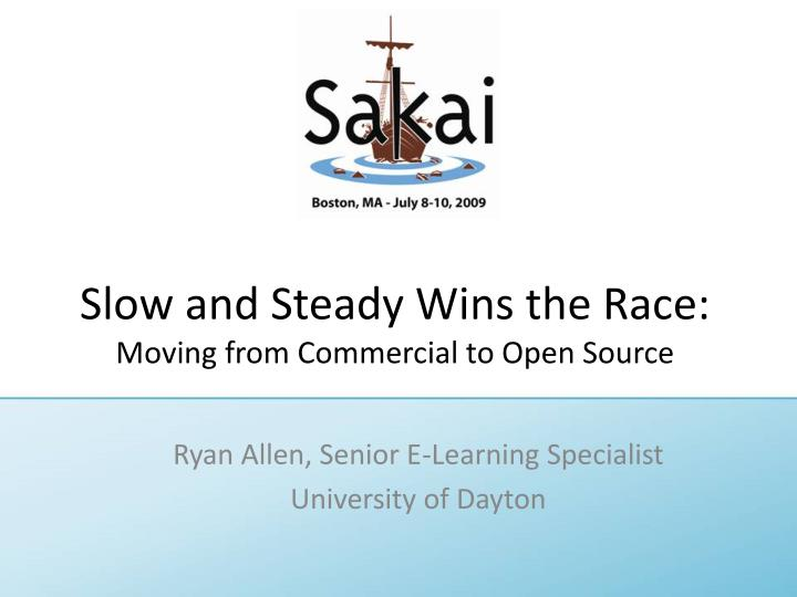 slow and steady wins the race moving from commercial to open source n.