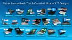 future convertible touch clamshell ultrabook designs