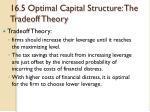 16 5 optimal capital structure the tradeoff theory5