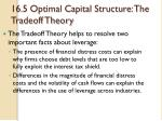 16 5 optimal capital structure the tradeoff theory6