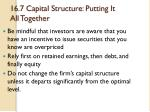 16 7 capital structure putting it all together1