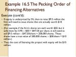 example 16 5 the pecking order of financing alternatives3