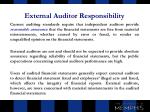 external auditor responsibility