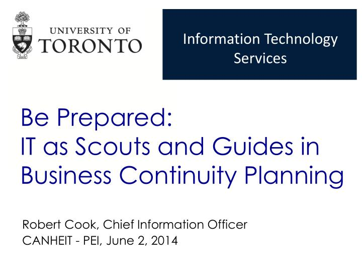be prepared it as scouts and guides in business continuity planning n.