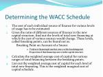 determining the wacc schedule