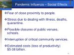 pandemic influenza social effects