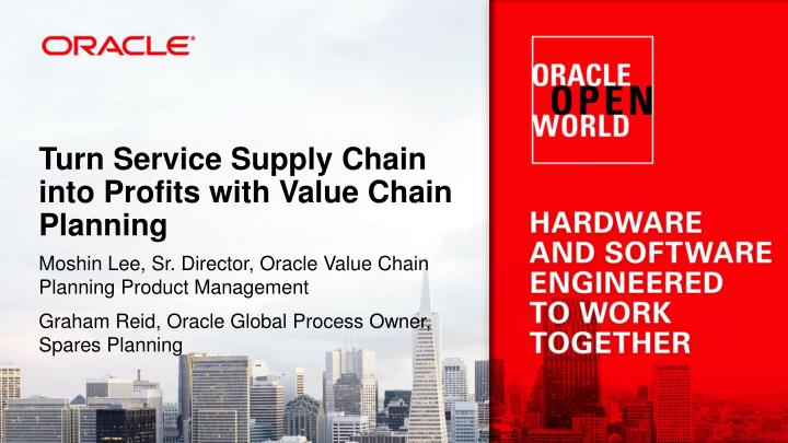 turn service supply chain into profits with value chain planning n.
