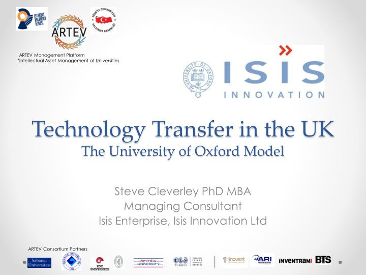 technology transfer in the uk the university of oxford model n.
