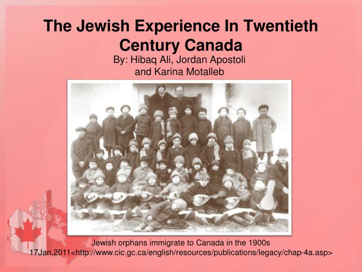 the jewish experience in twentieth century canada n.