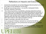 reflections on impacts and outcomes