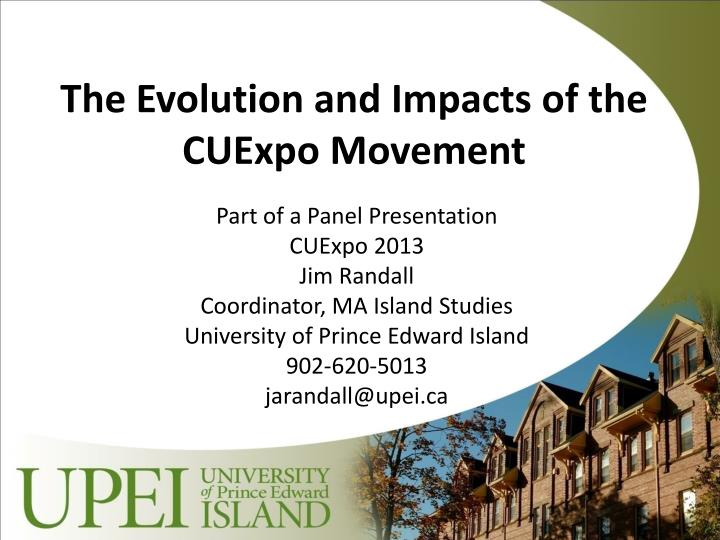the evolution and impacts of the cuexpo movement n.