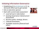 initiating information governance