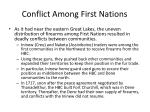 conflict among first nations