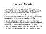 european rivalries