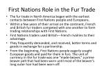 first nations role in the fur trade