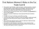 first nations women s roles in the fur trade cont d