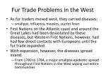 fur trade problems in the west