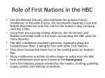 role of first nations in the hbc