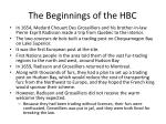 the beginnings of the hbc