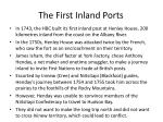 the first inland ports