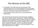 the mission of the hbc