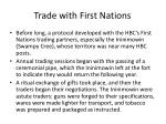 trade with first nations