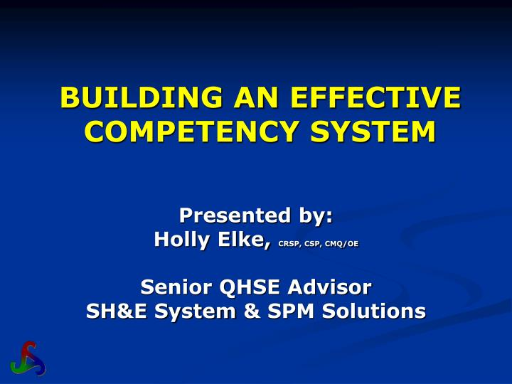 building an effective competency system n.