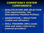 competency system components