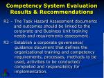 competency system evaluation results recommendations1