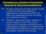 competency system evaluation results recommendations2