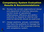 competency system evaluation results recommendations3