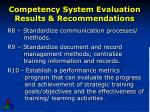 competency system evaluation results recommendations4