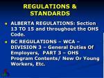 regulations standards