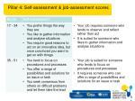 pillar 4 self assessment job assessment scores