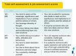 total self assessment job assessment scores1
