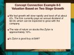 concept connection example 8 5 valuation based on two stage growth1