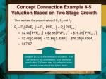 concept connection example 8 5 valuation based on two stage growth4
