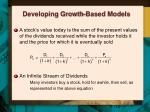 developing growth based models
