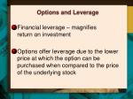 options and leverage