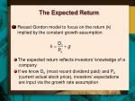the expected return