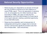national security opportunities