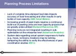 planning process limitations
