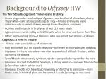 background to odyssey hw1