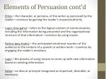 elements of persuasion cont d